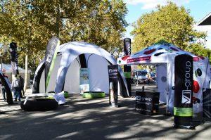 galerie - tente gonflable Marathon de Montpellier par Vision One