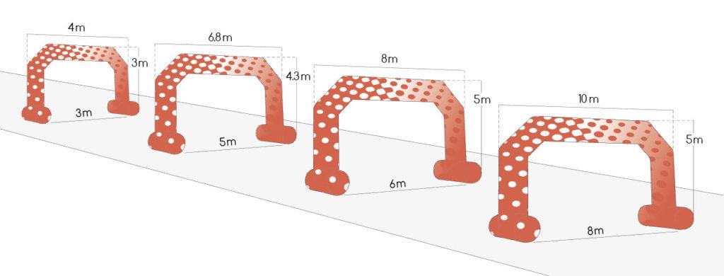 Dimensions arche